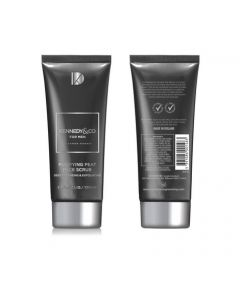 Kennedy & Co. Purifying Peat Face Scrub  Image is of the Front and Back of 1 tube