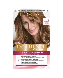 L'Oreal Excellence 6.3 Natural Light Golden Brown Permanent Hair Dye