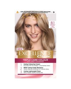 L'Oreal Excellence 8.1 Natural Ash Blonde Permanent Hair Dye