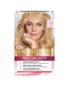 L'Oreal Excellence 9.3 Natural Light Gold Blonde Permanent Hair Dye