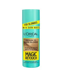 L'Oreal Magic Retouch Medium to Dark Blonde Instant Dark Root Touch Up Spray 75ml Front