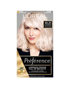L'Oreal Preference 10.21 Stockholm Very Very Light Pearl Blonde Permanent Hair Dye Front