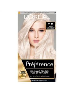 L'Oreal Preference 11.11 Venice Ultra-Light Cool Crystal Blonde Permanent Hair Dye