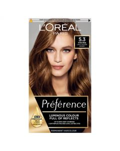 L'Oreal Preference 5.3 Virginia Light Golden Brown Permanent Hair Dye Front of box