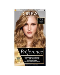 L'Oreal Preference 7.3 Florida Golden Blonde Permanent Hair Dye Front of box