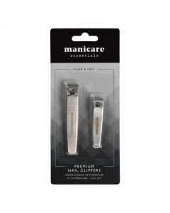 Manicare Gents Premium Nail Clippers Duo Pack