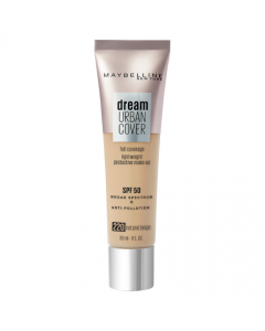 Maybelline Dream Urban Cover All-In-One Protective Makeup 220 Natural Beige