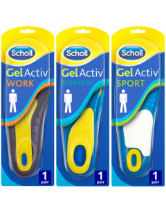 Scholl GelActiv Mens Triple Pack Bundle