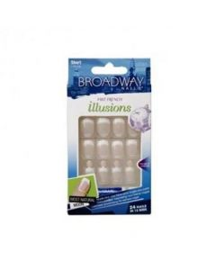 Broadway Illusions Fast French Nails - Short Length