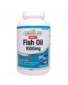 Natures Aid Fish Oil 1000mg (Omega-3)-180 Softgels