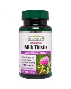 Natures Aid Milk Thistle 150mg 60s
