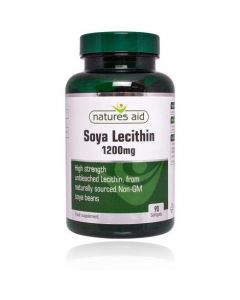 Natures Aid Soya Lecithin 1200mg 90 Softgels