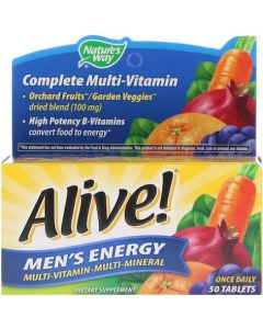 Natures Way Alive! Men's 50+ Multi-Vitamin and Mineral
