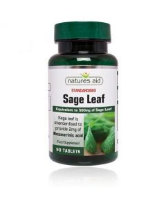 Natures Aid Sage Leaf 50mg 90 Tabs