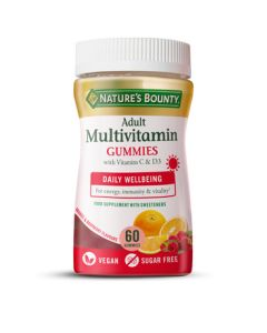 Nature's Bounty Adult Multivitamin Gummies with B vitamins and D3 60s