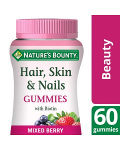 Nature's Bounty Hair, Skin and Nails Gummies with Biotin - Pack of 60