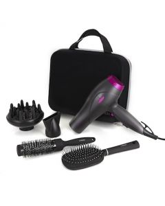 Neon 2200W Hair Dryer Styling Set Graphite/Pink
