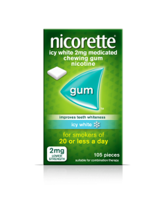 Nicorette Gum Icy White-2mg 105 Pieces