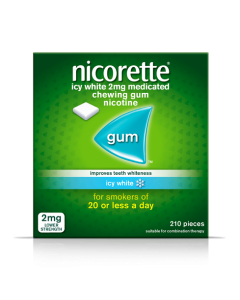 Nicorette Gum Icy White 2mg 210 Pieces