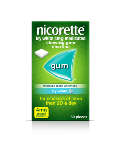 Nicorette Gum Icy White 4mg 30 Pieces