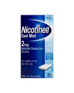 Nicotinell Cool Mint 2mg Medicated Chewing Gum – 96 Pack