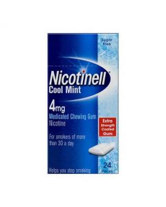 Nicotinell Cool Mint 4mg Medicated Chewing Gum – 24 Pack
