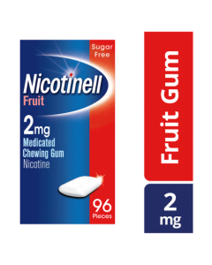 Nicotinell Nicotine Gum Stop Smoking Aid 2mg Fruit 96 Pack