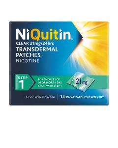 NiQuitin Clear 21mg Patches Step 1 - 14's (1pack)