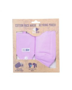 NoGo Dusty Pink Cotton Face Covering With Keyring Pouch