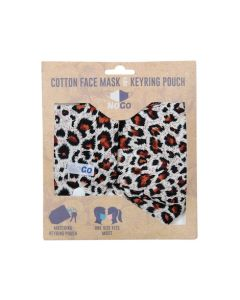NoGo Leopard Cotton Face Covering With Keyring Pouch