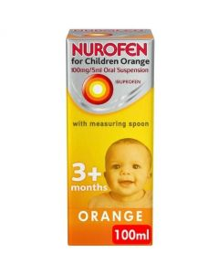 Nurofen For Children Orange Flavour With Spoon 100ml