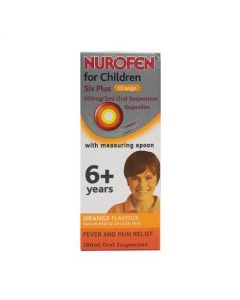 Nurofen for Children Six Plus Orange Oral Suspension 100ml