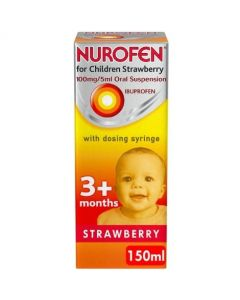Nurofen For Children Strawberry With Syringe 150ml