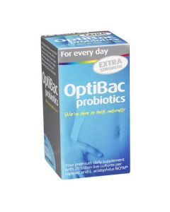 OptiBac Probiotics For Daily Wellbeing Extra Strength 30 Capsules