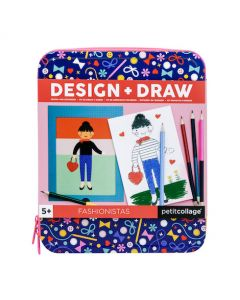 Petit Collage Fashionistas Design & Draw Travel Activity Kit