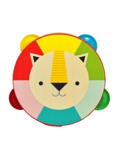 Petit Collage Kaleidoscope Lion Wooden Tambourine