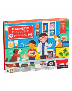 Petit Collage Magnetic Play Scene - Pet Hospital