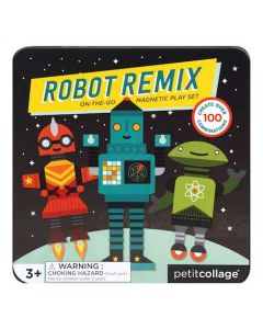 Petit Collage Magnetic Play Set Robot Remix