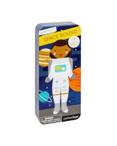 Petit Collage Shine Bright: Space Bound Magnetic Dress Up Set
