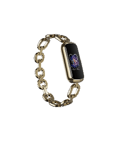 Fitbit Luxe Special Edition Gorjana with Jewellery Band Soft Gold/Peony