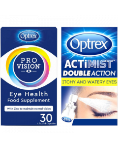 Actimist 2in1 Itchy & Watery Eye Spray + ProVision Capsules 30s Bundle