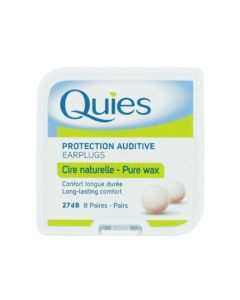 Quies Pure Wax Ear Plugs - 8 Pairs