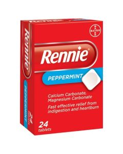 Rennie Peppermint Tablets - 24 Tablets