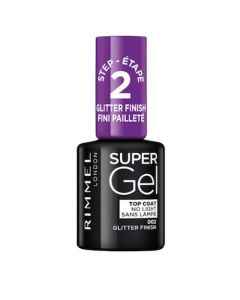 Rimmel London Super Gel Top Coat - 002 Glitter Finish