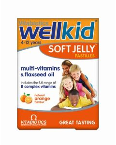 Vitabiotics Wellkid Soft Jelly Orange - 30 Pastilles