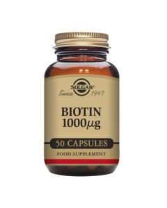 Solgar Biotin 1000 mcg Vegetable 50 Capsules