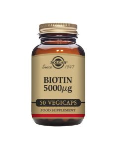 Solgar Biotin 5000 mcg Vegetable Capsules