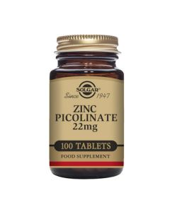 Solgar Zinc Picolinate 22 mg Tablets 100s