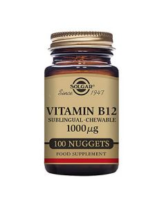 Solgar Vitamin B12 1000 µg Sublingual - Chewable Nuggets Pack of 100