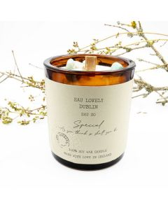 EAU Lovely Dublin So Special Soy Wax Candle With Gemstones